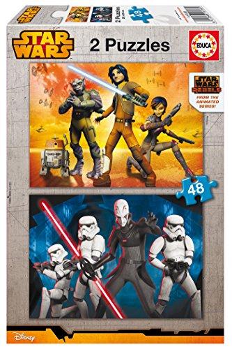 Educa 16168 - Puzzle - Star Wars Rebels, 2 x 48-Teilig