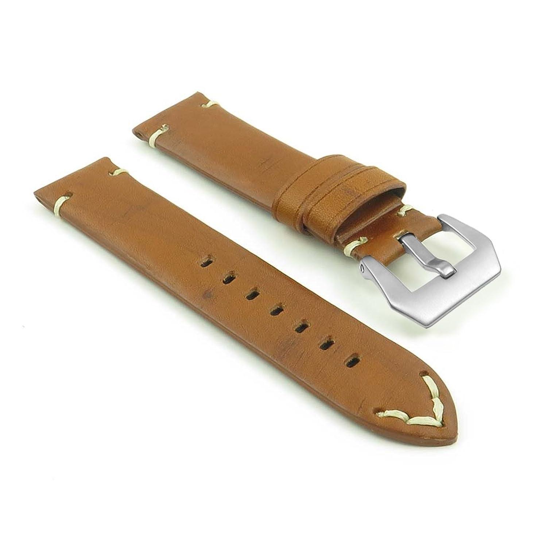 DASSARIバイキングハンドステッチアンティーク調レザー腕時計バンドストラップW / PVDマットスチールバックルFits Panerai 26mm さび色  さび色 26mm B01KKHXZ68