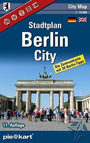 Berlin City 1 : 10.000 Stadtplan: Detaillierte Zentrumkarte mit 30 Berlin-Tipps und Informationen zu Shopping, Nightlife, Museen, Theater und Kinos.