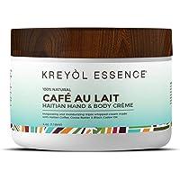 Haitian Hand & Body Crème Cream 100% Natural by KREYÒL ESSENCE, Cafe Au Lait 4oz.