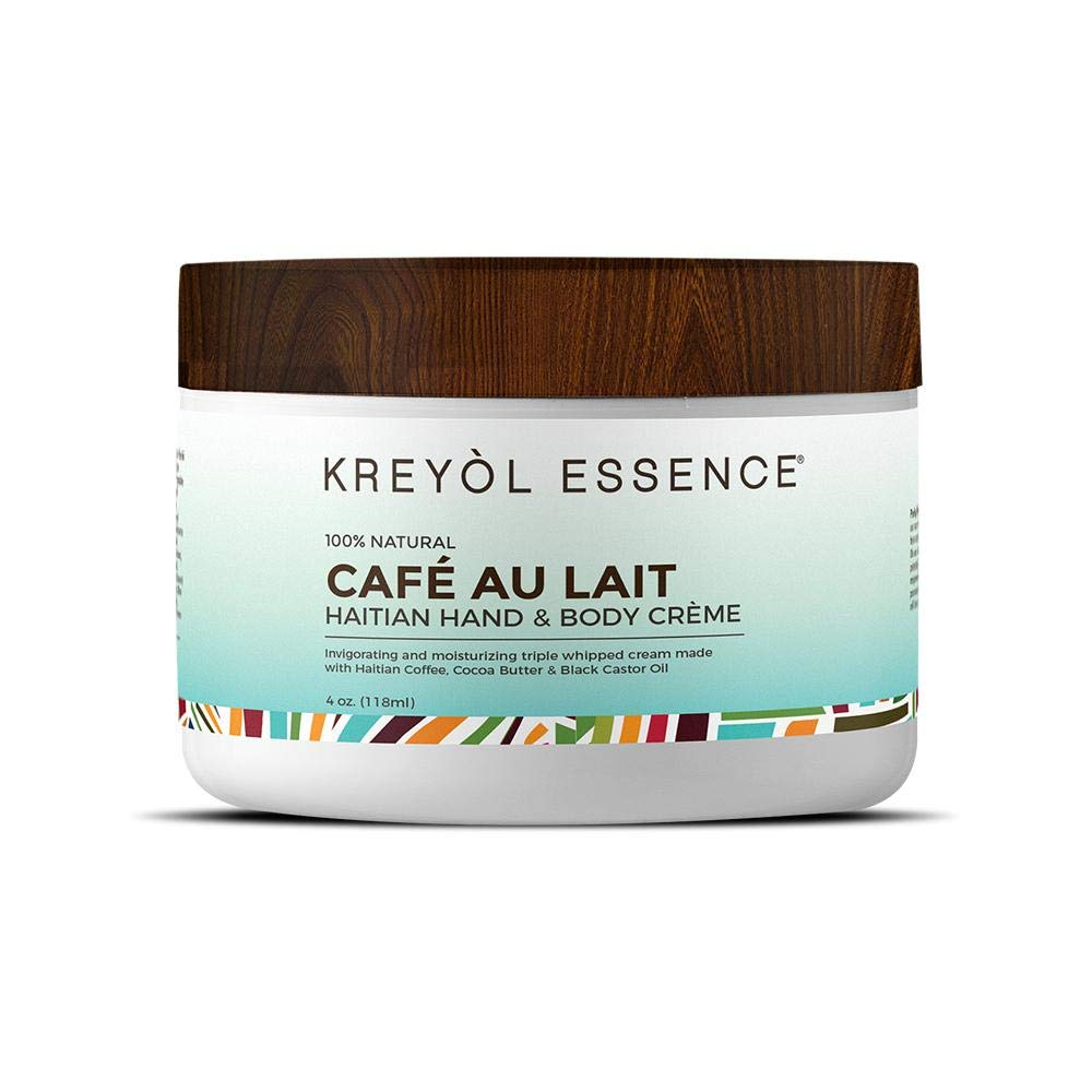 Haitian Hand & Body Crème Cream 100% Natural by KREYÒL ESSENCE, Cafe Au Lait 4oz.