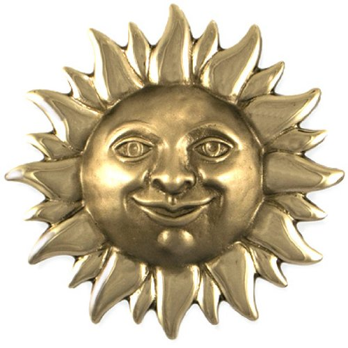 Smiling Sunface Door Knocker - Nickel Silver (Premium Size)