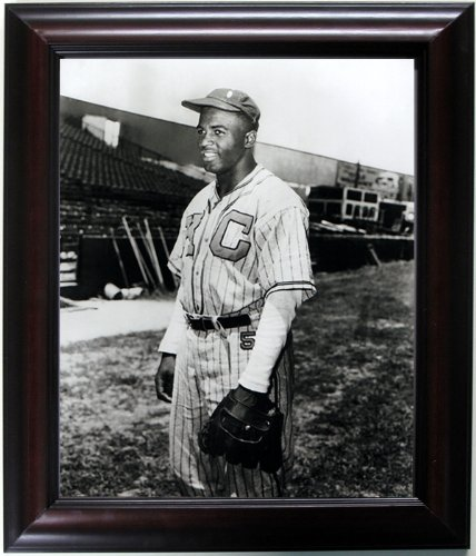 Jackie Robinson Framed & Mated Photograph Finest Quality Reproduction. by Brooklyn-art.com