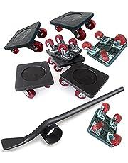 PULLEY -p Meubellifter met 4 Pack Bewegende Schuifregelaars Zware Meubilair Roller Move Tools Max Up voor 250KG/50 Lbs, 360 graden Draaibare Pads p (Maat: A)