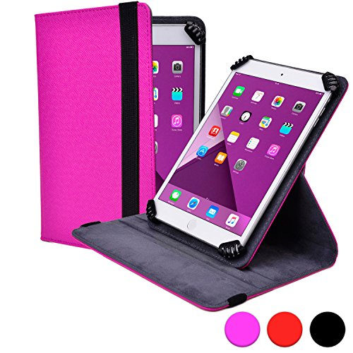 Pedestal Darling - Universal 7-8'' Tablet folio case, COOPER INFINITE S360 Business School Travel Carrying Portfolio Case Protective Cover Folio with Built-in 360 Rotating Stand for 7-8'' Tablets (Purple)