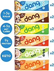 Dang Keto Bar | 6 Flavor Variety | 12 Pack | Keto Certified, Vegan, Low Carb, Low Sugar, Plant Based, Non GMO, Gluten Free S