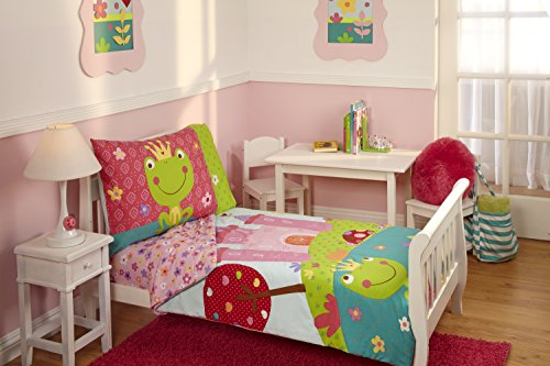 Everything Kids Toddler Bedding Set, (Frog Crib Bedding Sets)