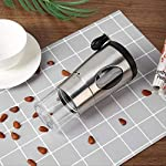 SFBBAO-Macina-Caffe-Manuale-Coffee-Grinder-Grinding-Ceramic-Conical-Mill-Inacciaio-Inossidabile-Collapsible-Bean-Grinder-1755-cm-Argento