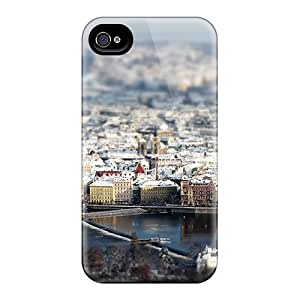 Tpu Fashionable Design Prague In Focus Rugged Case Cover For Iphone 4/4s New