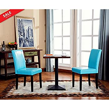 Solid Wood Leatherette Dining Chairs Set of 2 Upholstered Dining Chair Modern Contemporary Tufted Cushion Dining Room Side Chair Armless Living Room ...