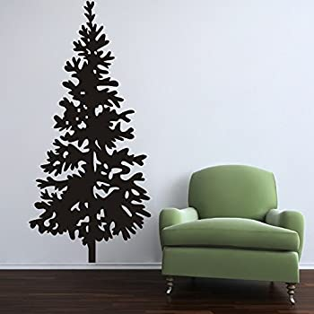 Christmas Tree Wall Decal Vinyl Christmas Tree Decor Merry Christmas  Stickers Christmas Tree With Ornaments Home