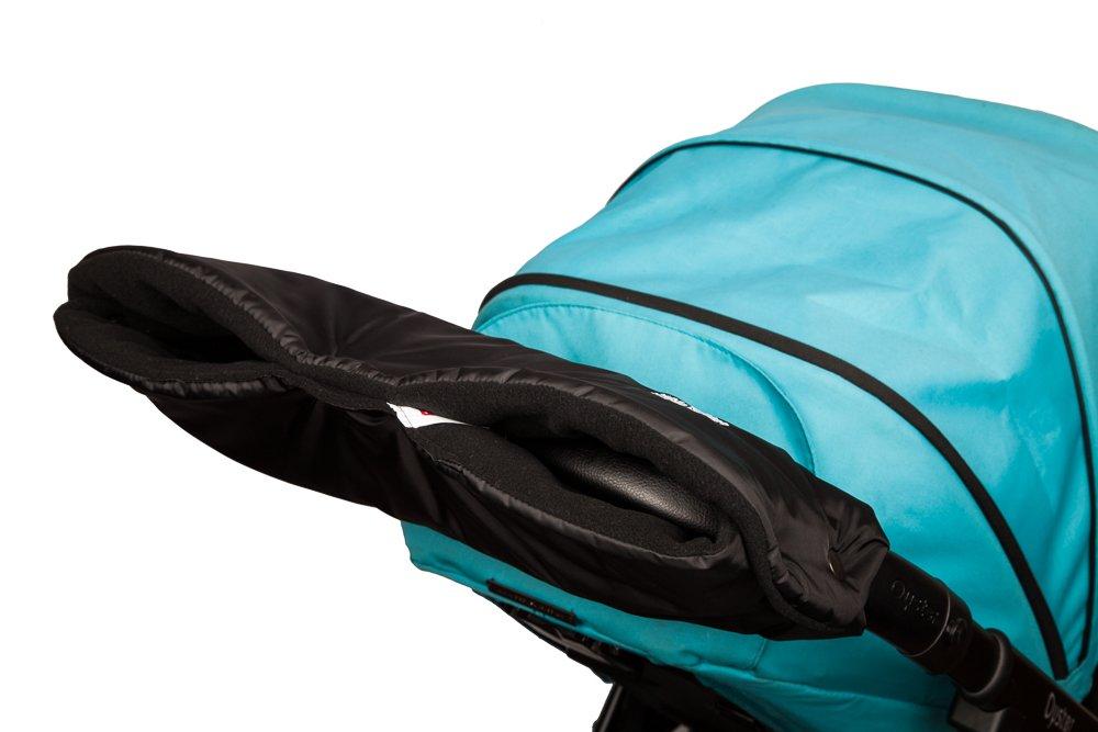 Baby Pushchair/Pram/Stroller Hand Warmer Muff - Black / Black The Pram Handwarmer Company