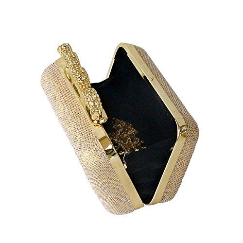 Bolsa De Banquetes Damas Cuatro Dedos Alrededor De La Bolsa De Anillo Nueva Bolsa De Cosméticos Gold