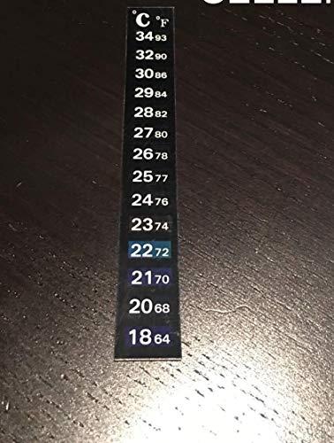 Dual Aquarium Fish Tank Thermometer Temperature Sticker Stick-on Fahrenheit USA