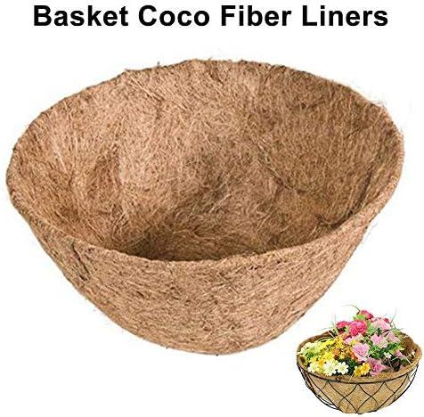 Kokoseinlage für hängeampel blumenampel Korb Liner aus Coco Faser Faltbares Einstellbares Natürliches Halbrundes Ersatzbares Pad für Garten Blumentopf