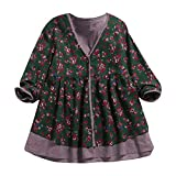 Dainzuy Ladies Sexy Casual Tops,Women's Long Sleeve Chiffon Loose Floral Print Kimono Blouse Tops