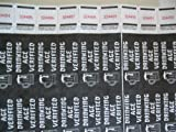 500 Black Drinking Age Verified Consecutively Numbered Tyvek Wristbands 3/4 Inch