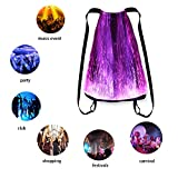 LED Light up Backpack Glowing Bag For Rave Music