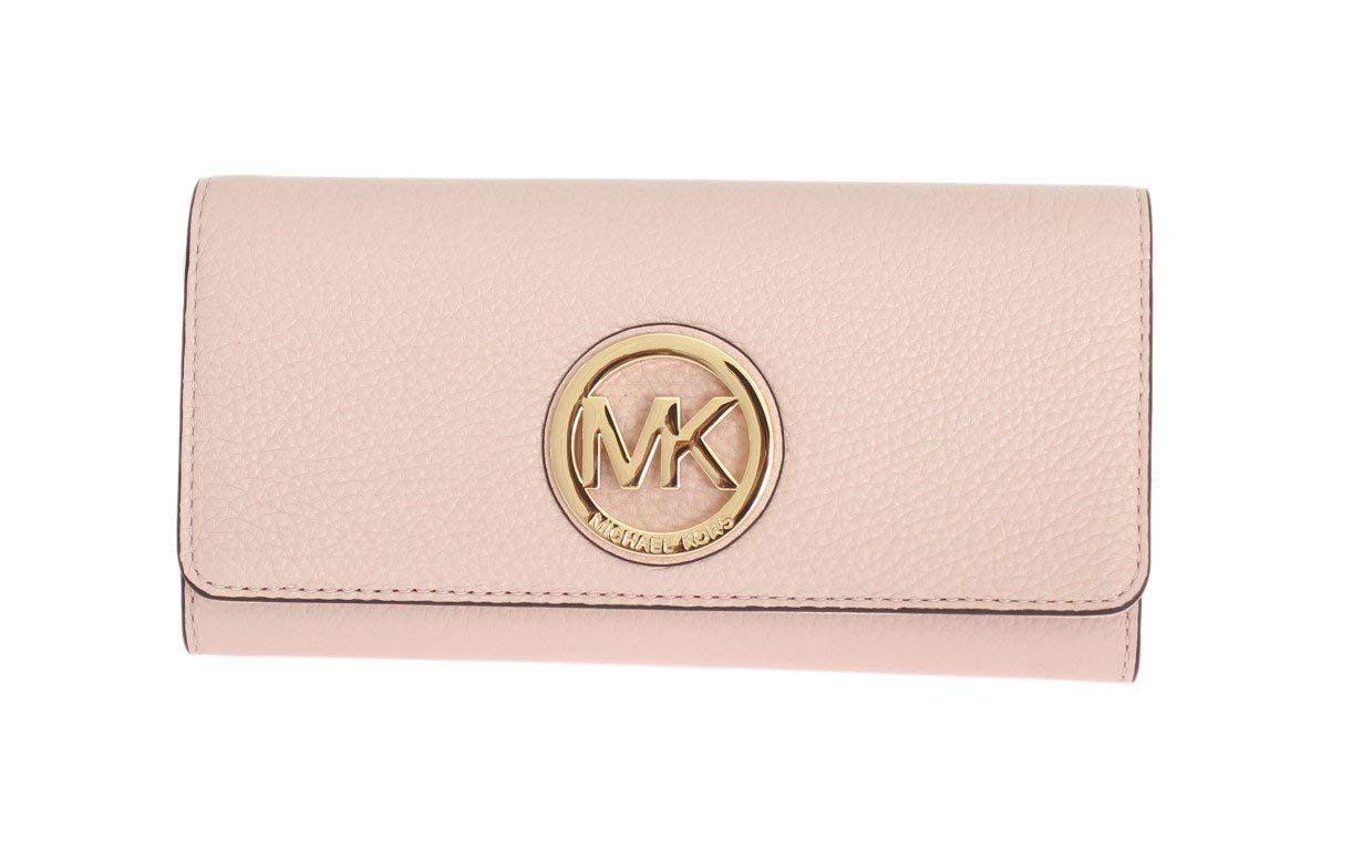 9f7bef04243897 Galleon - Michael Kors Fulton Flap Continental Leather Wallet Ballet Pink