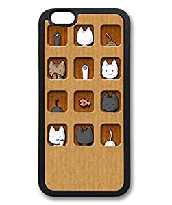 """iCustomonline Funny Wallpaper Cover Case for iPhone 6 (4.7"""") Material Black"""