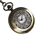Mighty Gadget MG0001 Vintage Style Analog Quartz Antique Pocket Watch with 31-Inch Chain
