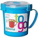 Sistema Blue Klip It Microwave Soup To Go Mug, 656ml