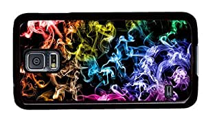 Hipster Samsung Galaxy S5 Case rubber colored smoke PC Black for Samsung S5 by runtopwell