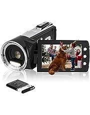 """HG8162 digitale videocamera 1080P FHD camcorder / 2,7"""" TFT LCD-flipscherm / 270 graden draaibare camcorder voor kinderen/tieners/studenten/beginners/oudere mensen"""