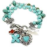 Brighton Loretto Heart Cross Bracelet