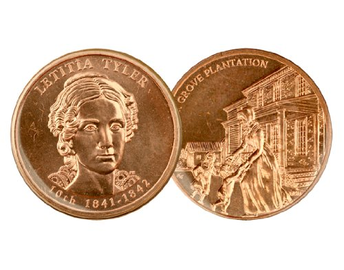 - Coins of America 2009 Letitia Tyler Bronze Medal