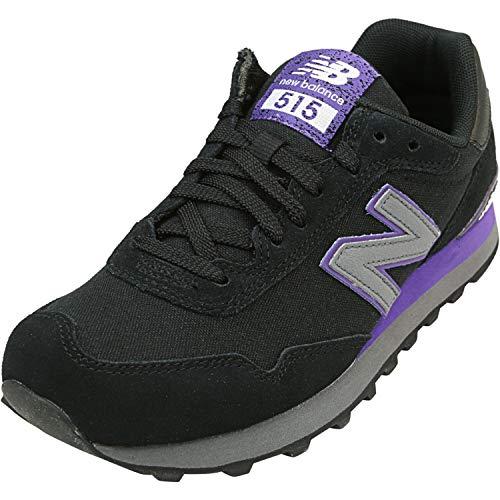 New Balance Women's 515 V1 Sneaker, Black/Prism Purple, 5 W US