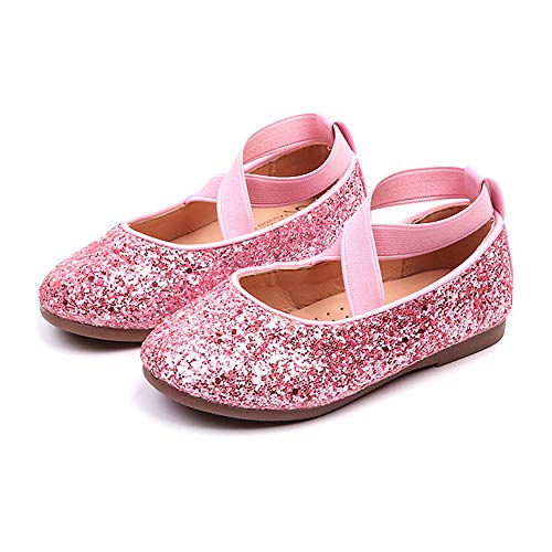 Sequins Bling Dancing Shoes,G-Real Baby Girls Premium Soft Cute Crib Princess Shoes Pink ()