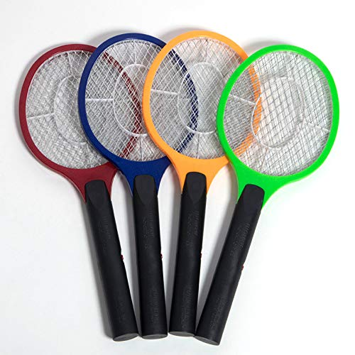 Shoppy Star Mosquito Swatter Rechargeable LED Electric Fly Mosquito Swatter Bug Zapper Racket Insect Killer Home Kill Mosquitoes Tools  Yellow