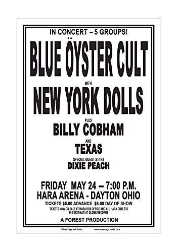 Raw Sugar Art Studio Blue Oyster Cult/New York Dolls 1974 Dayton Concert ()