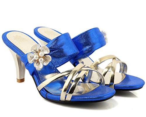 HiTime HiTime Femme HiTime Femme Bleu Femme Mules Bleu Bleu HiTime Mules Mules wXqCTggE