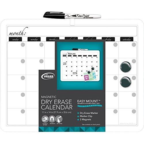 "Board Dudes 11"" x 14"" Plastic Framed Magnetic Calendar (CYM19) hot sale"