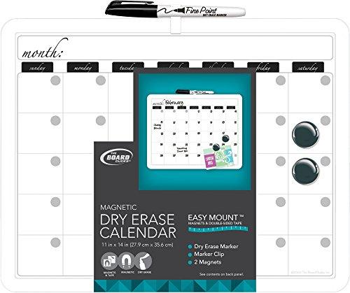 Board Dudes 11″ x 14″ Plastic Framed Magnetic Calendar (CYM19)