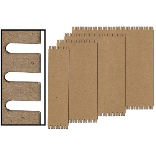 Jack Richeson 12 Pack Loom Card Wide Notch 9.75'' X 13''