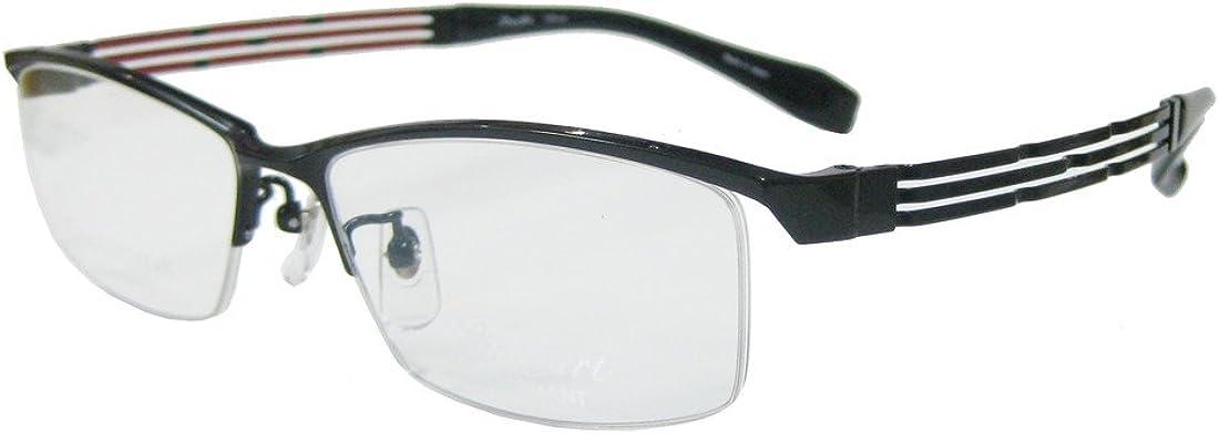 Line Art メガネフレーム形状記憶 XL1086-BK-55 ブラック
