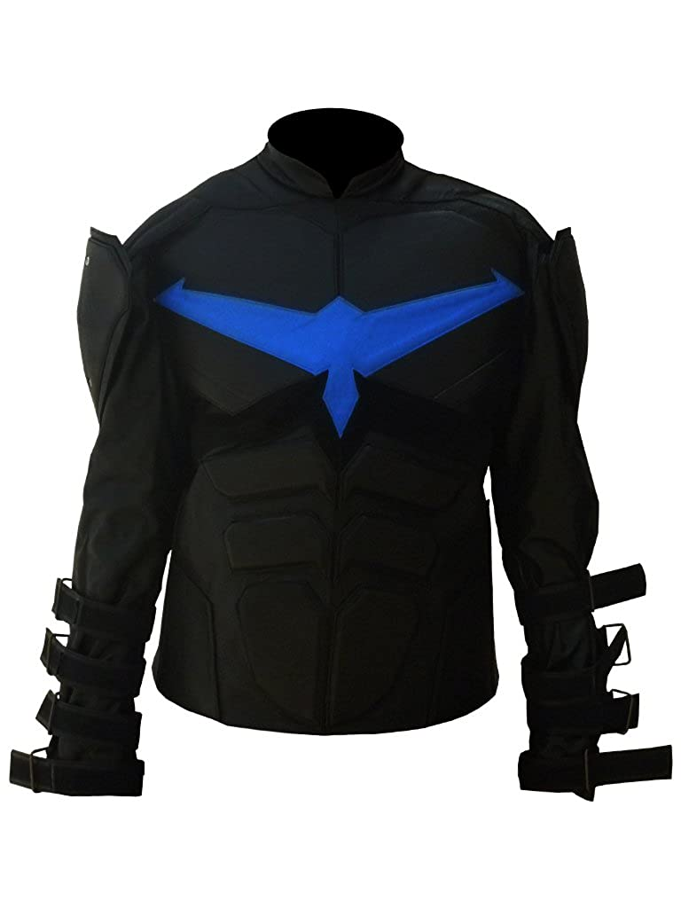 Outfitter Jackets Nightwing Dick Grayson Real Leather Jacket BNWT at Amazon Mens Clothing store: