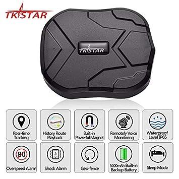 XuBa Rastreador GPS Coche 5000Mah 90 Días en Espera 2G Rastreador de Vehículos Localizador GPS Imán A Prueba de Agua Monitor de Voz Aplicación: Amazon.es: ...