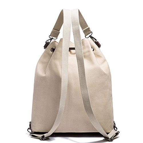 Sfruttare Moda Donna Shopping Tracolla Borsa Scolastici Gshga Nuova Tela Bianco pqwgRfpd