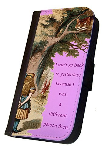 Alice in Wonderland iPhone 5C Flip Case The Different Person, iPhone 5C Flip Cover, Wallet Case, Book Style Case, Pocket Cover, Flap Case Bi-Fold Cover, by Sublifascination 11 DOES NOT FIT THE IPHONE 5/5s (Iphone 5c Cases That Have Quotes)