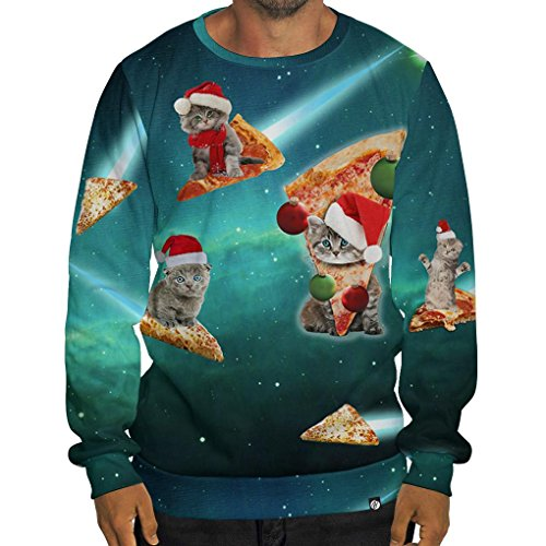 California Pizza Kitchen Domain: Beloved Shirts Meowie Christmas Pizza Cats Sweatshirt-As