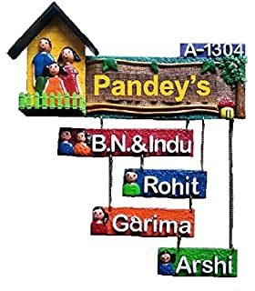 Buy Karigaari India Wooden Name Plate For Home Decor I