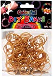 DIY Bands - 100 Count Gold Refill bands with Clips and Loom tool