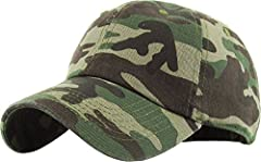 KBETHOS Daily Cotton Baseball Cap. Made of 100% Cotton for Great Smooth Texture and Long Lasting Durability. Visor is Pre-Curved to Keep the Head Away from Sun Rays. With Adjustable Metal Buckle Back, It is Very Easy to Accommodate Any Hat Si...