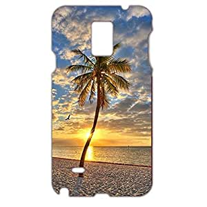 Fashionable design beach Unique case Durable novel 3D cover for Samsung Galaxy Note 4 beach Fashionabel cover