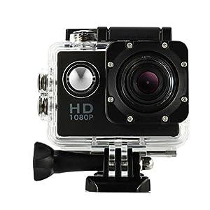 Creazy Mini Waterproof Sports Recorder Car DV Action Camera Camcorder 1080P HD (Black)