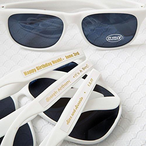 Set of 40 Personalized White Sunglasses - Bachelorette Party